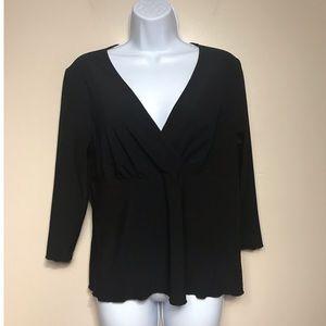 Biyaycda Black Large V-Neck Shirt